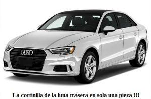 cortinillas parasoles solares a medida Audi a3 4 deurs 2018