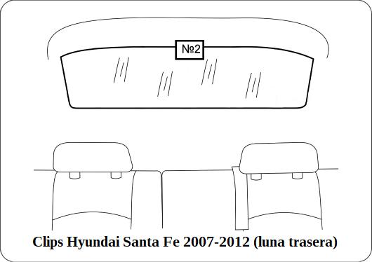parasol a medida hyundai santa fe 2007-2012