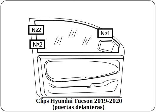 Clips Hyundai Tucson 2019 2020 puertas delanteras