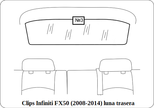 parasol a medida infiniti fx(50) 2008-2014