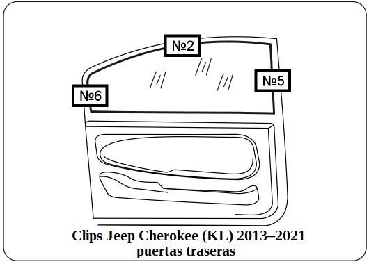parasol a medida jeep cherokee (kl) 2013–2021