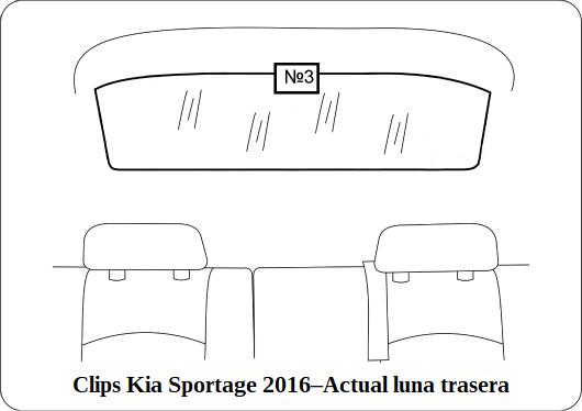 parasol a medida kia sportage 2016–actual
