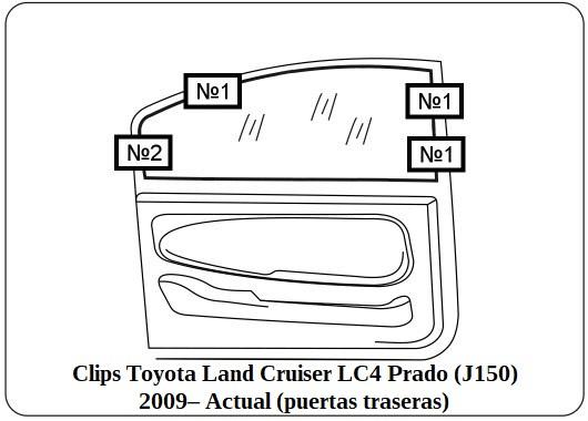 parasol a medida Toyota Land Cruiser LC4 Prado (J150) 2009 – Actual