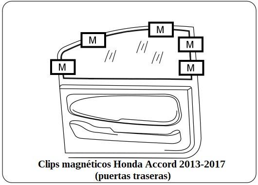 cortinilla a medida honda accord 2013-2017 (puertas traseras)