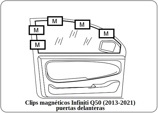 parasol a medida infiniti q50 (2013-2021)