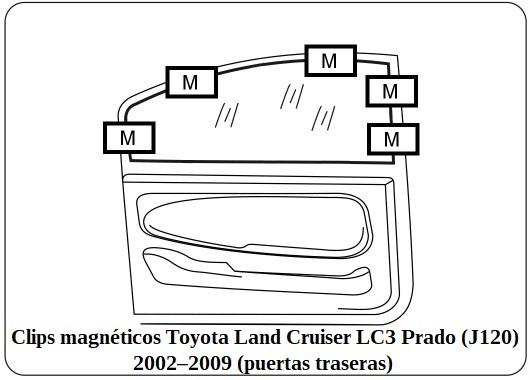 arasol a medida Toyota Land Cruiser LC3 Prado (J120)