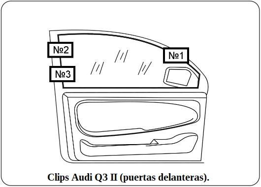 clips audi q3 II puertas delanteras.