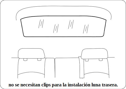 clips peugeot 407 sedan 2004 2010 luna trasera.