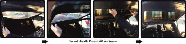 parasol a medida peugeot 407 sedan