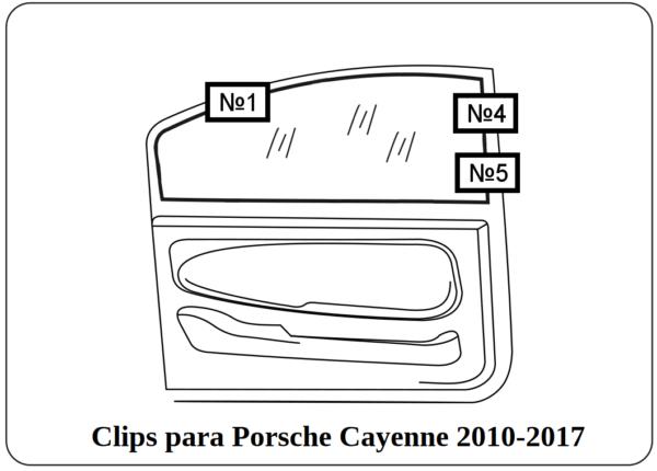 clips para porsche cayenne 2010-2017