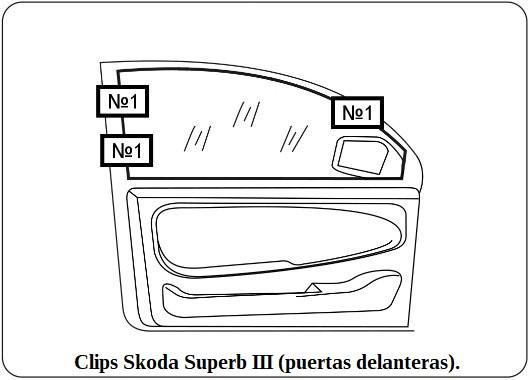 clips skoda superb III (puertas delanteras)eras).