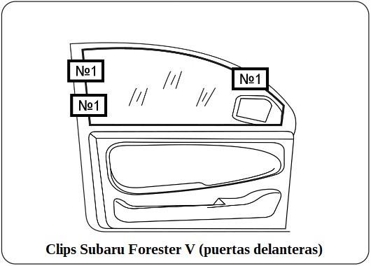 clips subaru forester V puertas delanteras