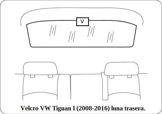 velcro vw tiguan l 2008 2016 luna trasera.